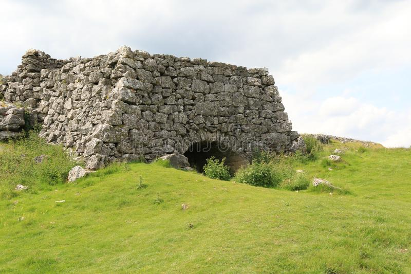 Lime Kiln. The remains of an old Lime Kiln on the Dale Way near Conistone, Wharfedale royalty free stock image