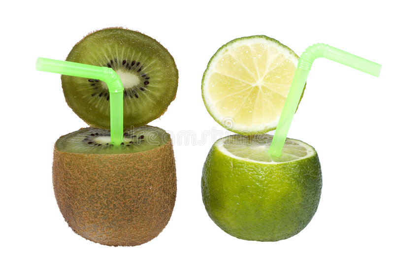 Lime and kiwi abstract fruit drink. royalty free stock photography