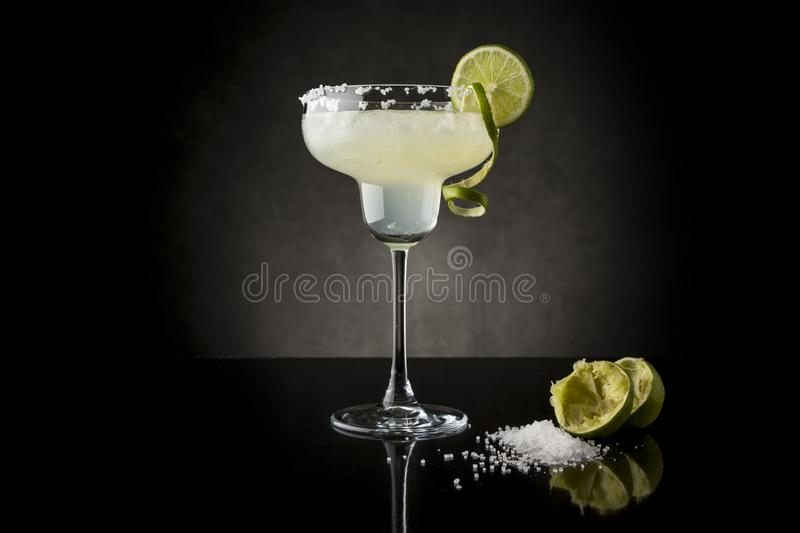Lime margarita cocktail stock image
