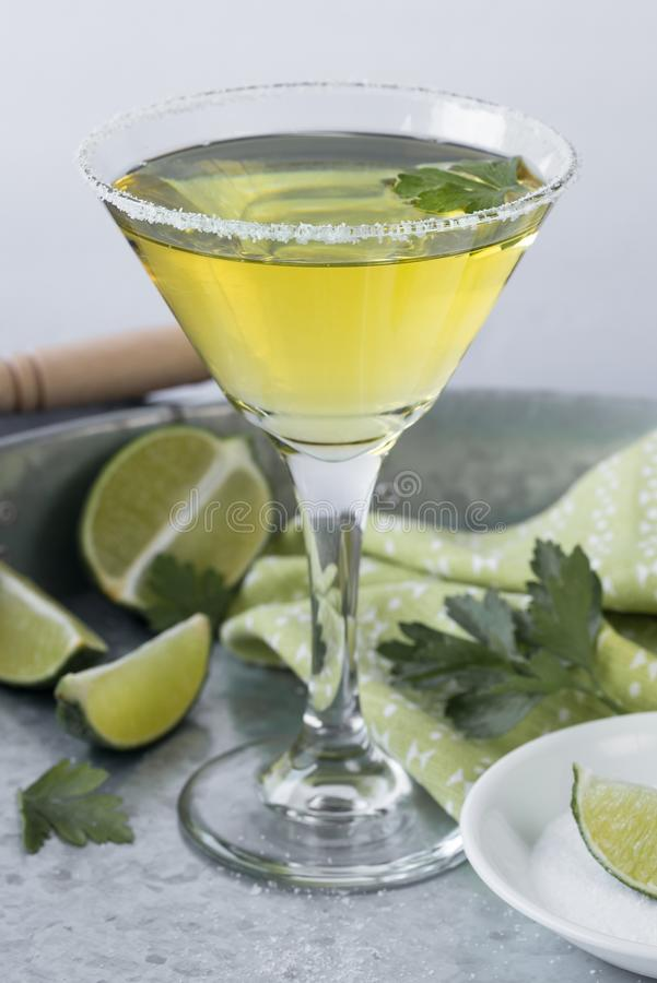 Lime martini stock image