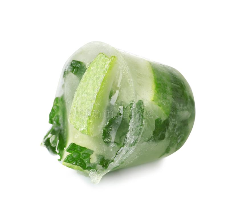 Lime and mint ice cube royalty free stock photo