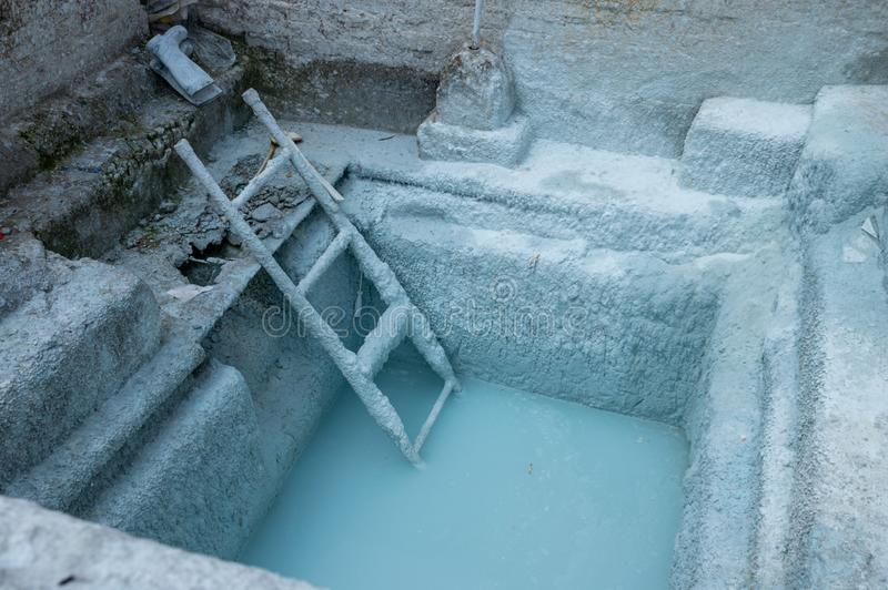 Lime Pit for Whitewash royalty free stock photo