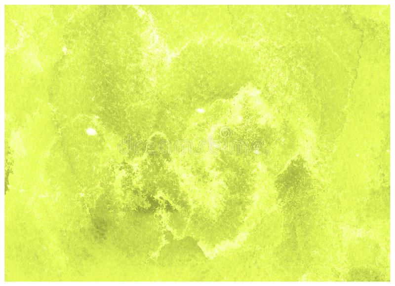 Lime Punch yellow green watercolor frame. Abstract hand draw background. Lime Punch yellow green watercolor stain paint stroke white background. Watercolor paper stock photography