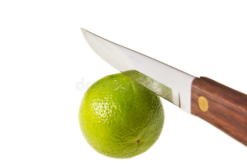 Download Lime with sharp knife stock image. Image of nutrition - 21995073