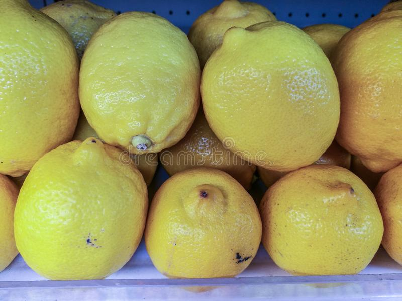 Lime on the shelves waiting for sales to customers royalty free stock photo
