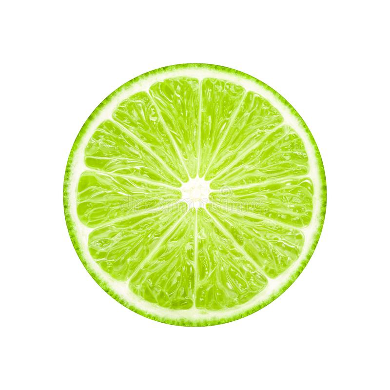 Lime slice fruit royalty free stock photos