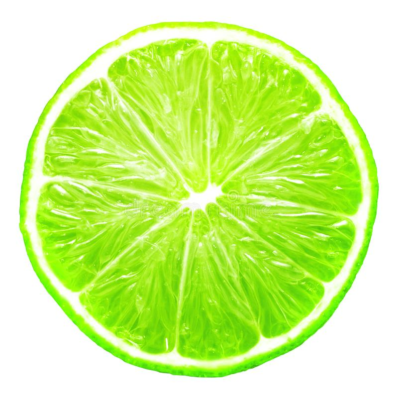 Lime slice isolated. On white and PNG file with transparent background stock photos