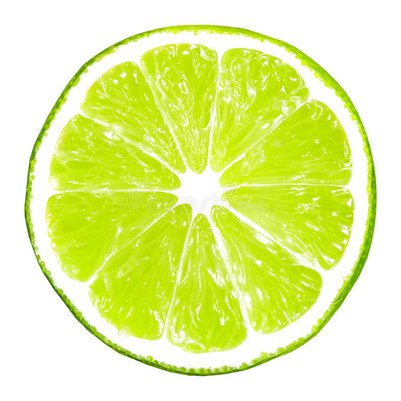 Lime slice isolated royalty free stock photography