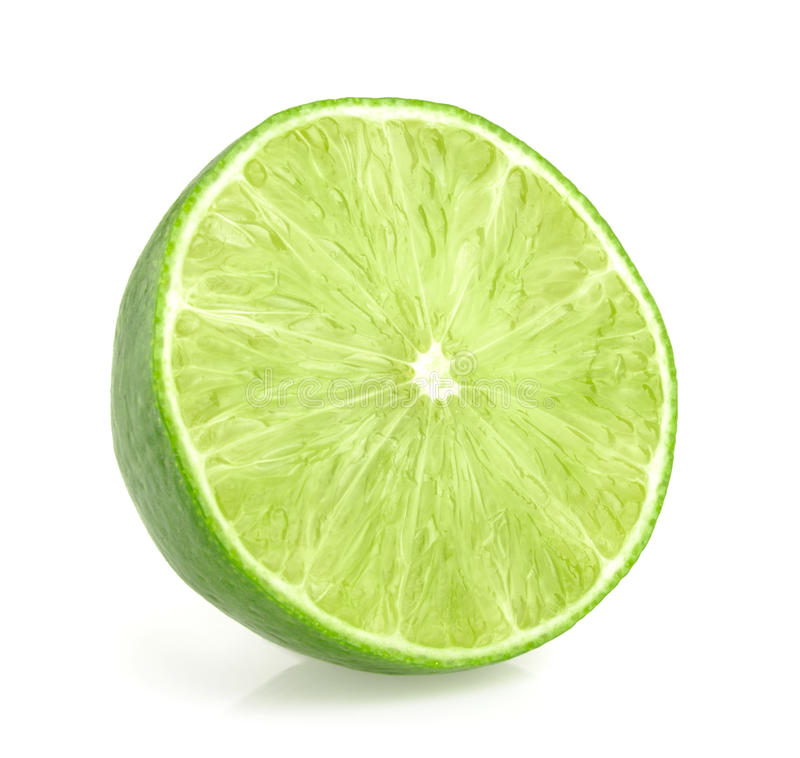 Lime slices isolated. On white background stock photography