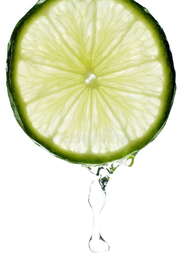 Lime with Splash of Water royalty free stock photos