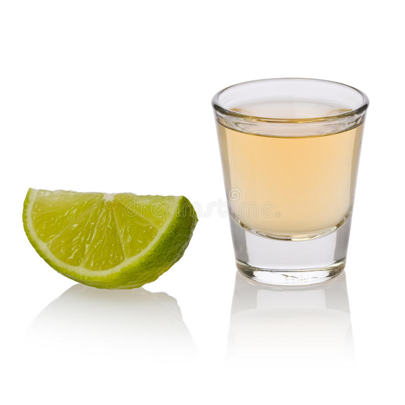 Lime and Tequila stock photo