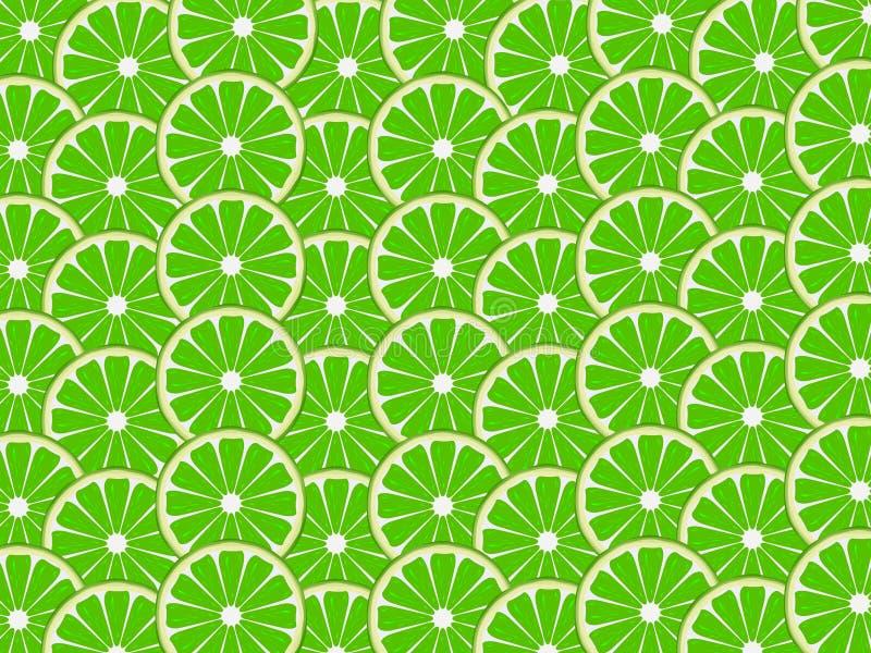 Limefruktbakgrund vektor illustrationer
