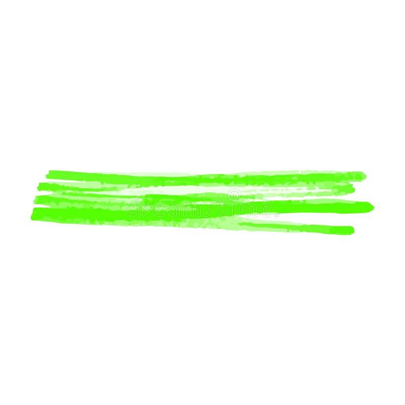 Limefruktfärgmarkör att klottra linjen eller befläcka realistisk stil vektor illustrationer