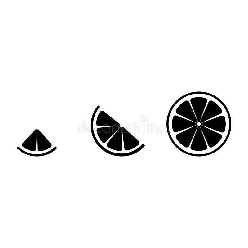 Limefruktlogo Isolerad limefrukt p? vitbakgrund 10 eps ocks? vektor f?r coreldrawillustration Svart limefruktkontur Ställ in av s vektor illustrationer
