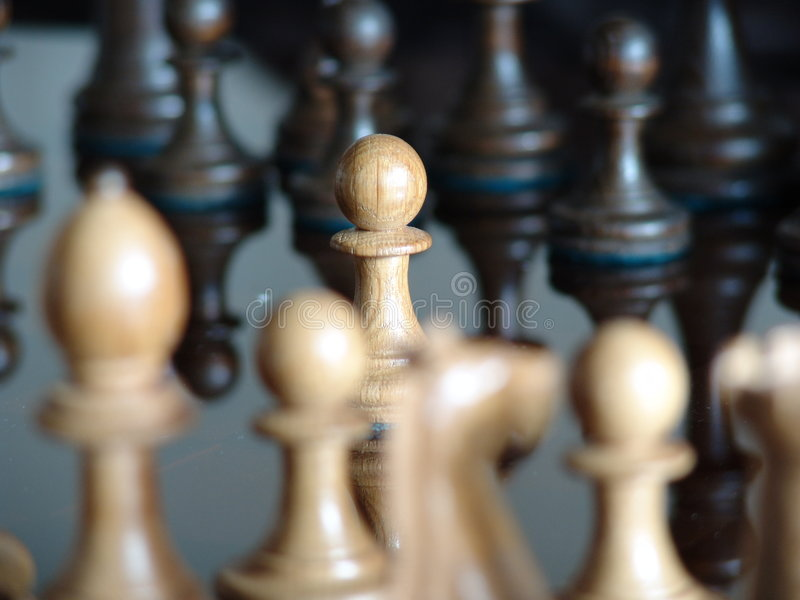 Black and white chess pieces royalty free stock image