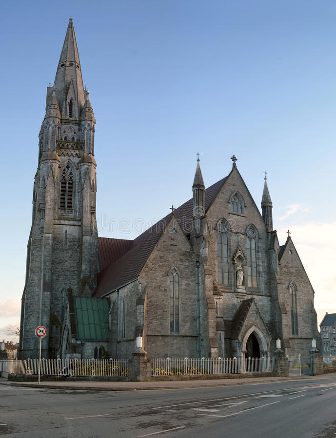 Limerick cathedral. Cathedral in Limerick - irish architecture stock photo