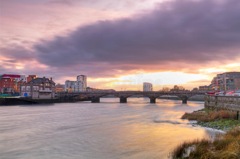 Download Limerick City Scenery At Sunset Stock Photo - Image: 22605496