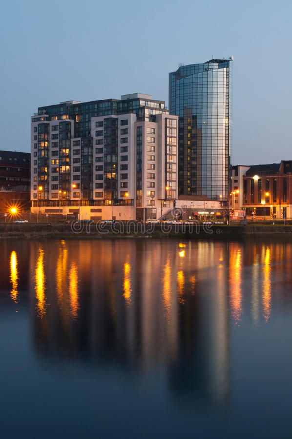 Download Limerick at night stock photo. Image of blue, irish, architecture - 24269280