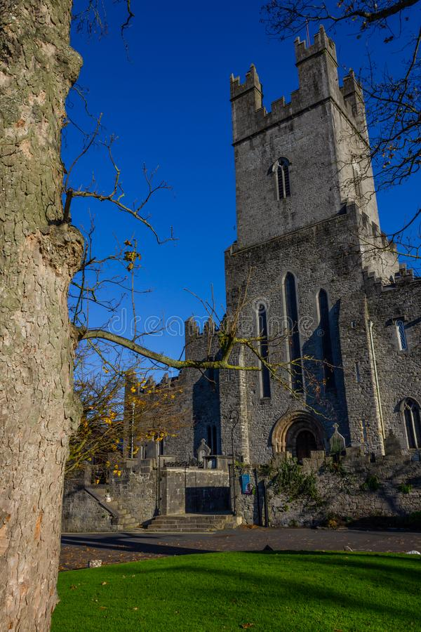 Limerick stone church. Front of Limerick stone church, Limerick, Ireland royalty free stock images