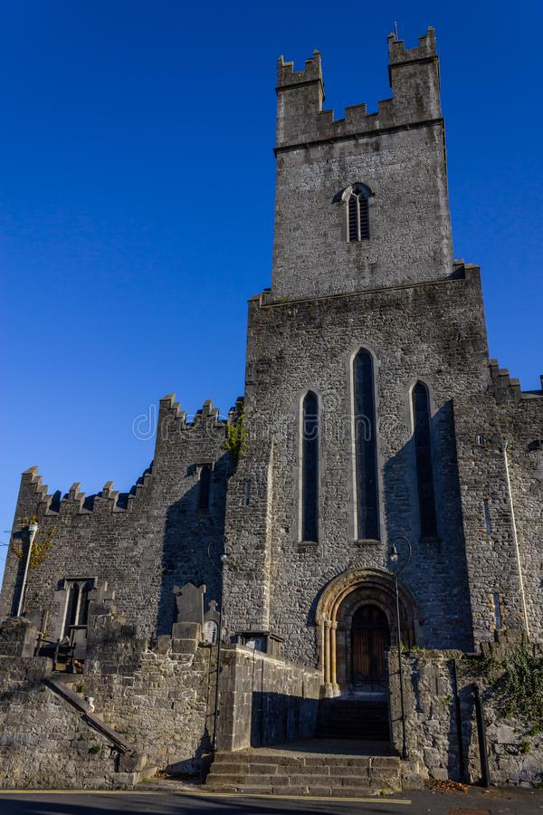 Limerick stone church. Front of Limerick stone church, Limerick, Ireland royalty free stock photo