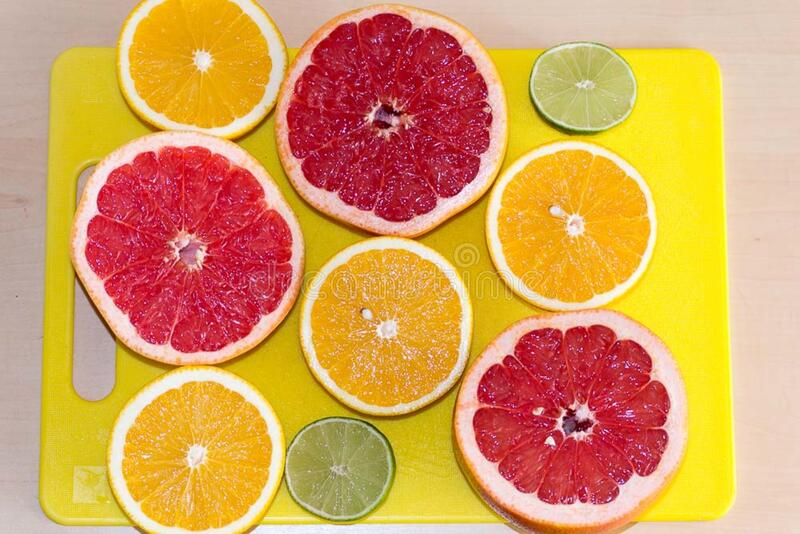 Limes, grapefruits and oranges royalty free stock photography