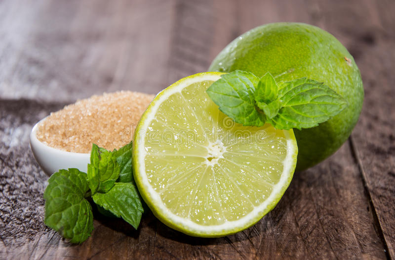 Limes and Mint stock images