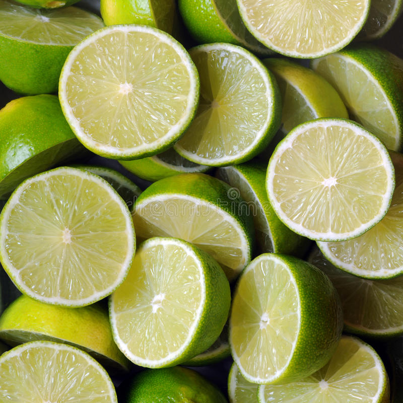 Limes. Panorama comprised of multiple photos royalty free stock photos