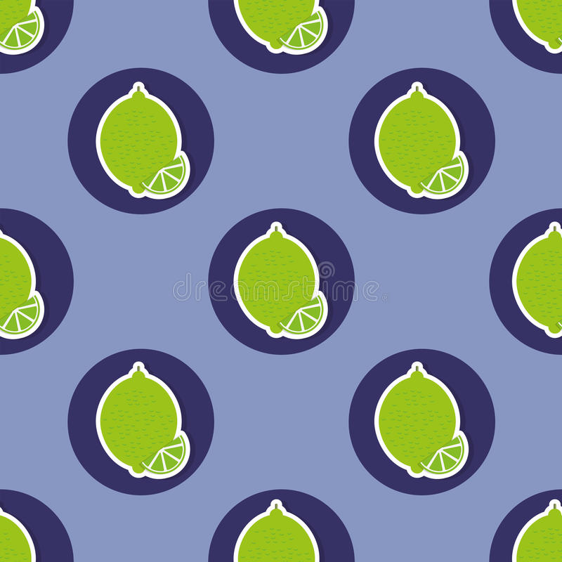 Limes pattern. Seamless texture with ripe limes vector illustration