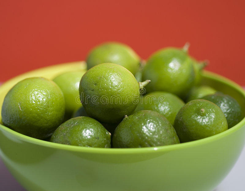 Limes up close stock photography