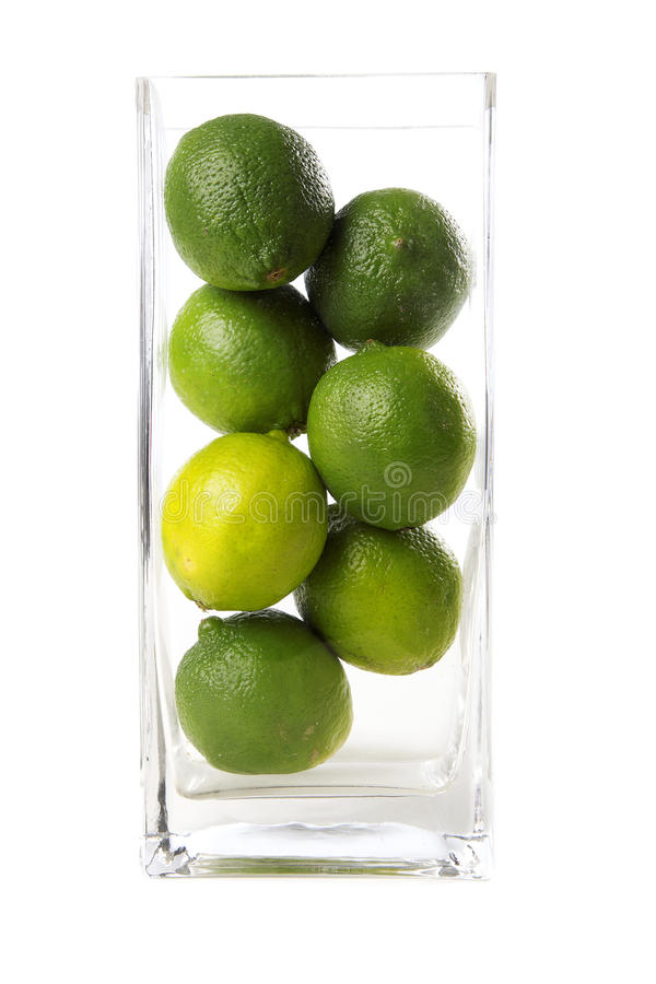 Limes in vase royalty free stock photo