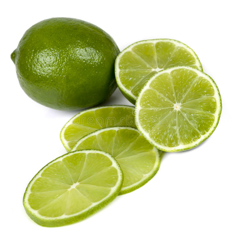 Limes on White royalty free stock photo