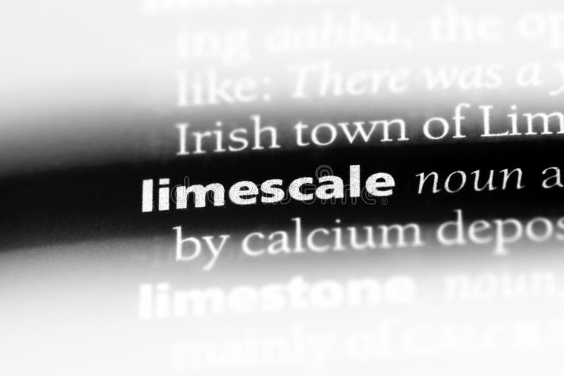 Limescale. Word in a dictionary.  concept stock images