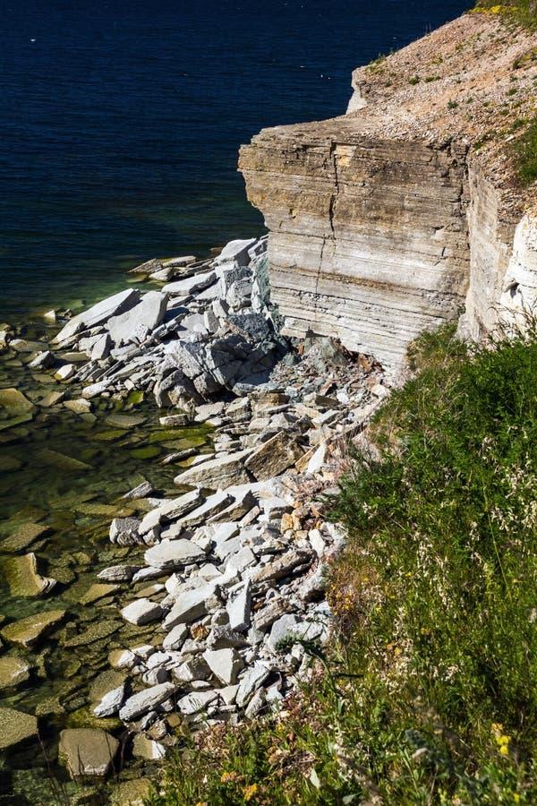 Limestone Banks. The limestone banks of Pakri Peninsula, Paldiski, Estonia stock photography