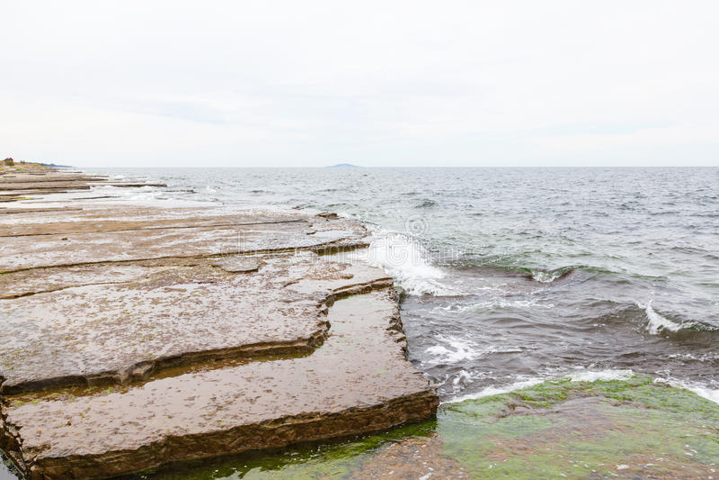 Limestone beach stock photos