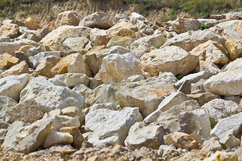 Limestone boulders royalty free stock photos