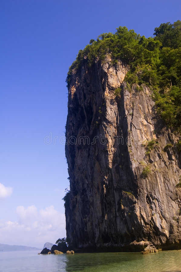 Limestone Cliff stock photo
