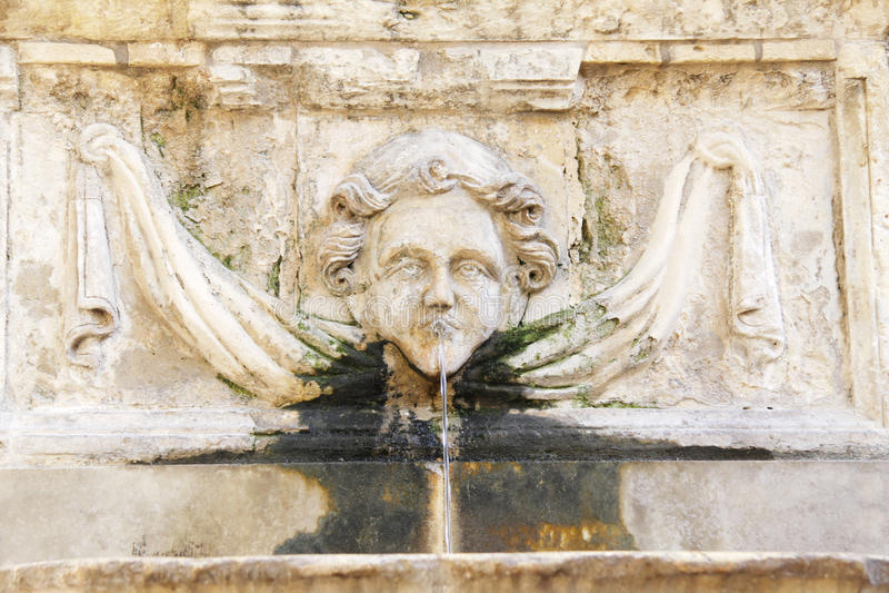 Limestone fountain royalty free stock image