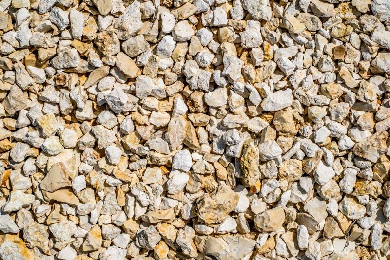 Limestone gravel texture background royalty free stock photos