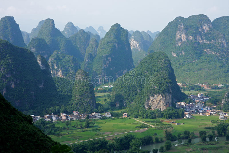 Limestone hills, China stock image. Image of famous ...