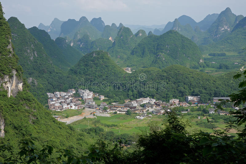 Limestone hills, China stock photo