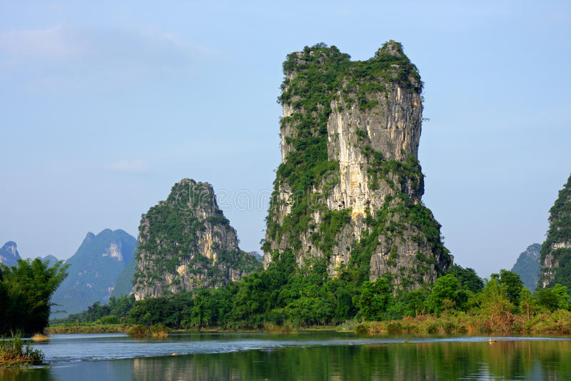 Limestone hills, China royalty free stock photos