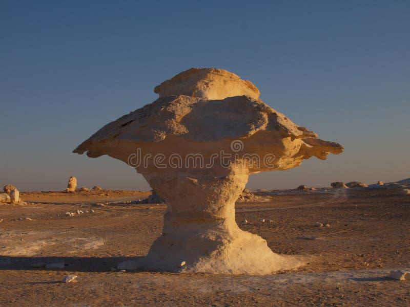 Limestone Mushroom, White Desert, Egypt. royalty free stock photography