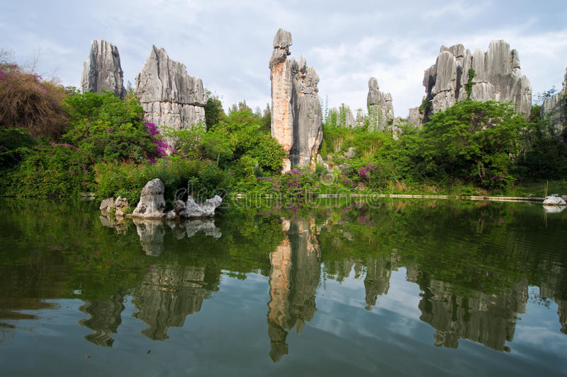 Limestone named A-Shi-Ma at Kunming Shilin. A limestone formation named A-Shi-Ma at Kunming Stone forest or Shilin, a UNESCO World Heritage Sites, Yunnan China royalty free stock photos