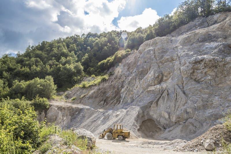 Limestone quarry industry, summer, Ukraine. Limestone quarry industry and manufacturing, summer, Ukraine stock image