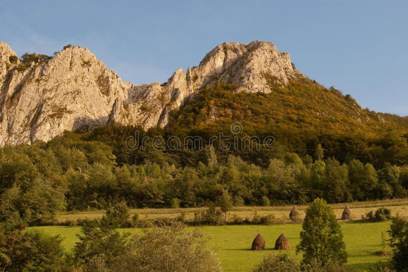 Download Limestone Range With Green Pastures Stock Image - Image: 10918305