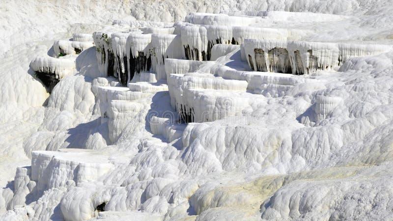 Limestone terrace Pamukale stock image