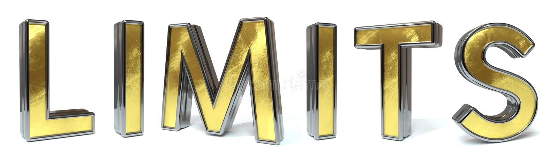 Limita o texto dourado ilustração stock