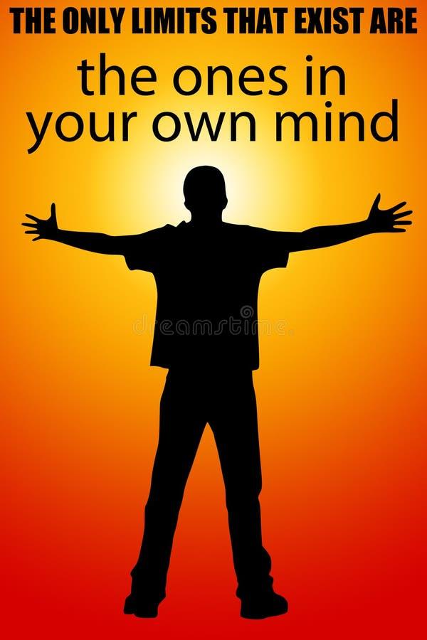 Limita para poseer mente stock de ilustración
