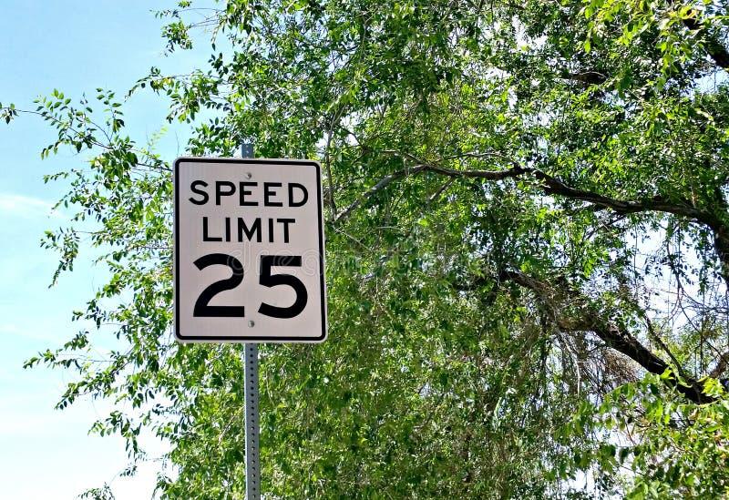 Limitation de vitesse 25 image libre de droits