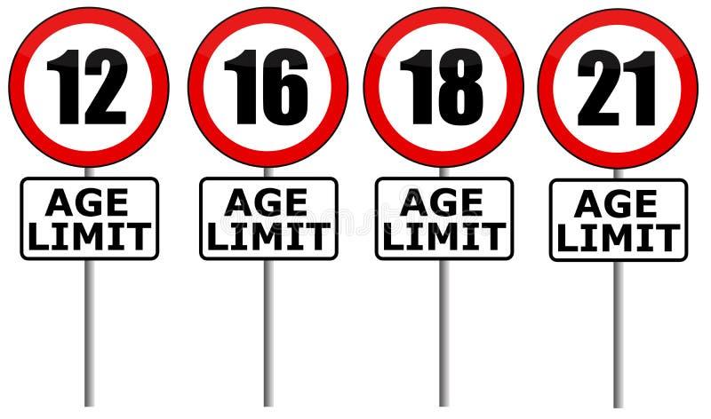 Limite d'âge illustration libre de droits